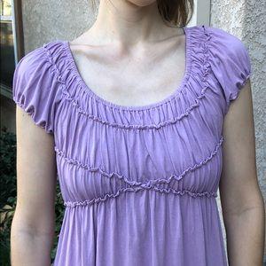 Lilac Max Studio Dress With Ruffles